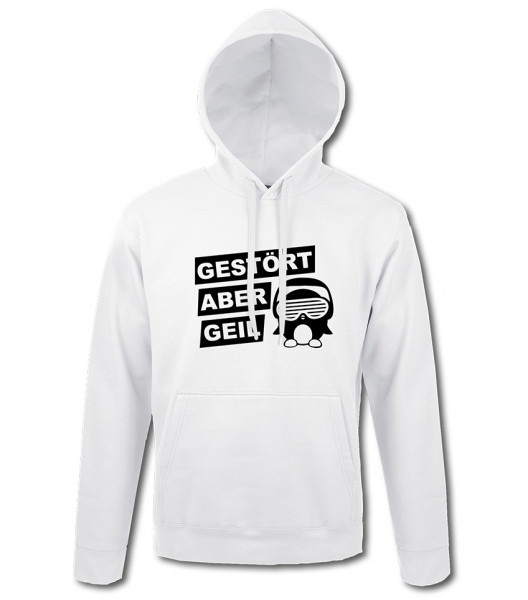 Classic Logo Hoodie Unisex weiss